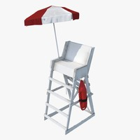 realistic lifeguard chair 3d max