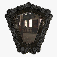 3d mirror carved