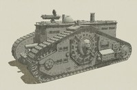 3dsmax steampunk tank