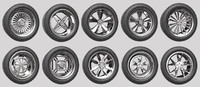 car rims pack 1 3d model