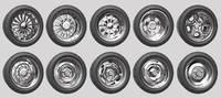 car wheels rims pack 2 3d model