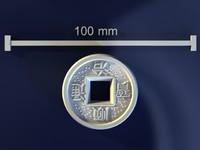 3d model feng shui coin