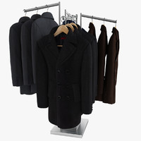 3ds max men s coats rack