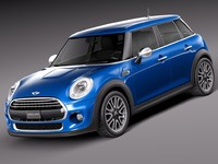 3d model of 2015 5-door mini