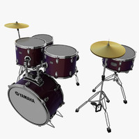 yamaha drum 3d model