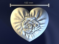 heart rose mold obj