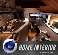 cinema4d house interior