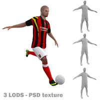 rigged soccer players 3d max