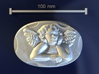 3d model of angel mold hand