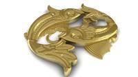 zodiac pisces 3d model