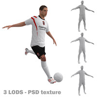 3d rigged soccer players 2