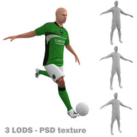 3d rigged soccer players 3