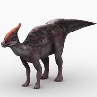saurolophus dinosaur animation max