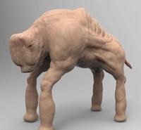 3d 3ds creature behemoth