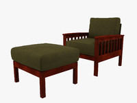 tribecca home hills chair 3d model