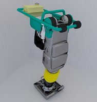 3d model tamping rammer