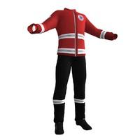3d paramedic uniform model