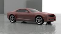 camaro 2008 3d model