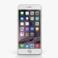 3d model of apple iphone 6 gold