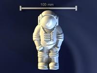 obj astronaut mold hand