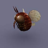 3d insect cartoon model
