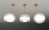 Pendant glass light