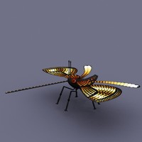 butterfly insect cartoon 3d model