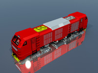 indonesia locomotive 3d model