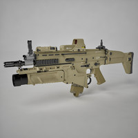 3d assault combat rifle model