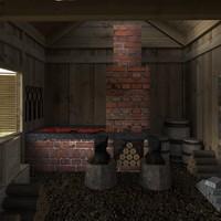 blacksmith interior 3d max
