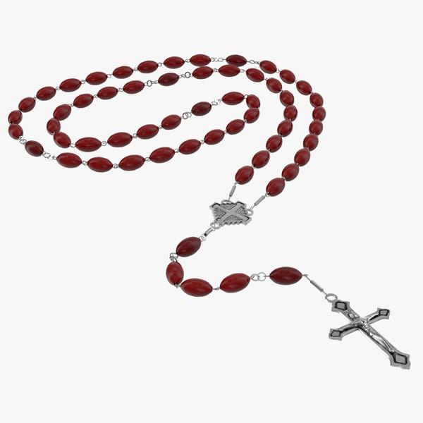 Rosary bead cross catholic necklace dominican prayer hail mary vray accessory