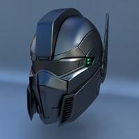 3d robot head c