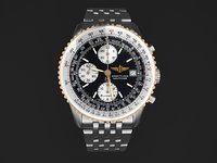 Breitling Navitimer II steel braclet mens watch