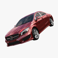 3d model of mercedes benz cla 2015