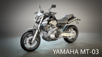 3d yamaha mt-03