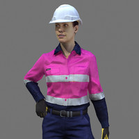 maya rig safety female worker