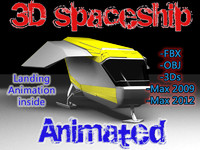free max model sci-fi spaceship animation