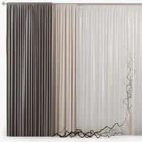 3d model curtains m02