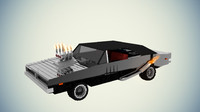 3d model minecraft dodge charger