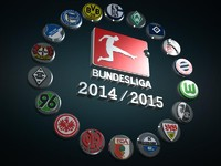 3d model bundesliga logo football