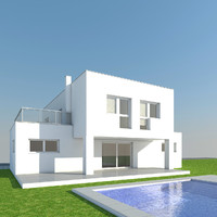 3d family house architectural