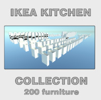 3d model ikea kitchen furniture