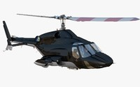 3d model airwolf helicopter bell