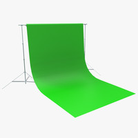 3d model of green screen