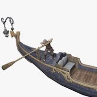 row boat 3d c4d