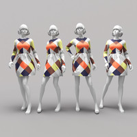 3d mannequin dress model