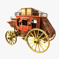 stagecoach luggage 3d max