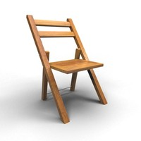 3d ma rigged chair