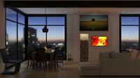 3d model modern city apartment
