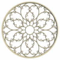 elegant gothic rose window 3d obj